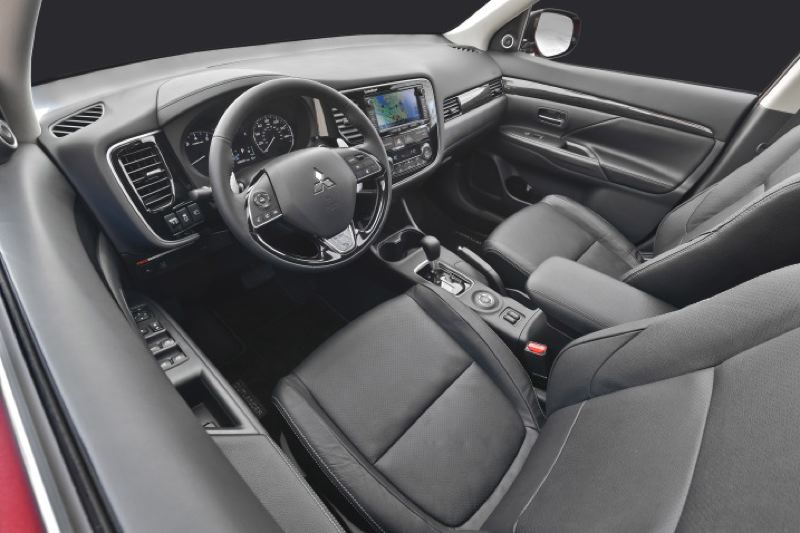 MITSUBISHI MOTOR COMPANY - The interior of the 2016 Mitsubishi Outllander is quet and comfortable, especially with the optional leather seats.