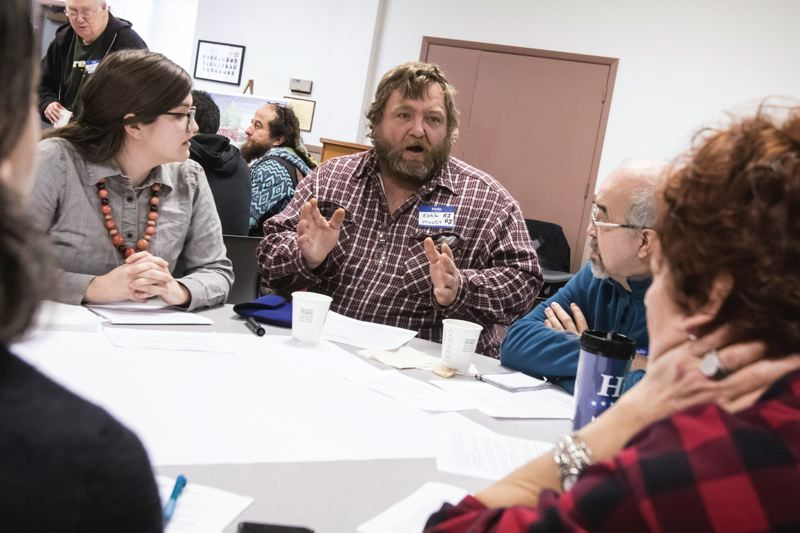 PORTLAND TRIBUNE: JONATHAN HOUSE - Right 2 Dream Too resident Earl Moody talks about the incidents in his life that led to him ending up homeless, and eventually to R2DToo, during Saturday's planning meeting for the relocation of the camp.