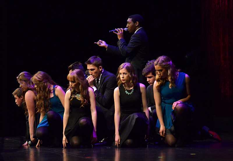 SPOKESMAN PHOTO: VERN UYETAKE - Soul'd Out performs its routine.