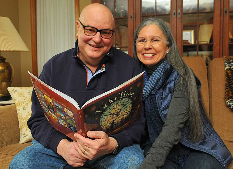 SPOKESMAN PHOTO: VERN UYETAKE - Authors Roland and Marie Smith live on the same farm where Marie grew up just outside Wilsonville. The couple's most recent picture book 'T is for Time' is one of four finalists for the Eloise Jarvis McGraw award for children's literature. The award winner will be announced April 11.