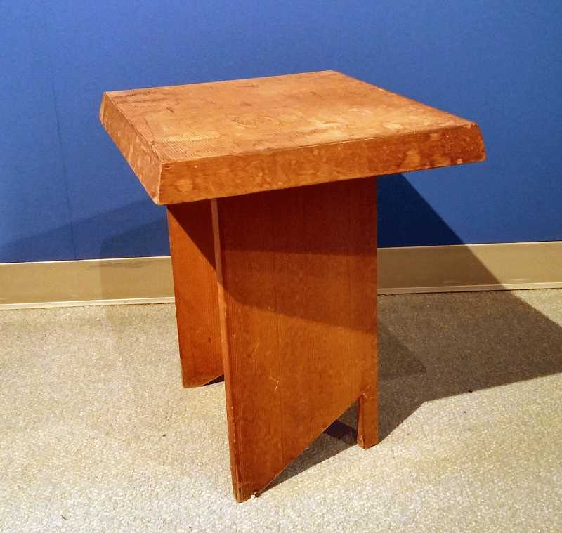 SUBMITTED PHOTOS:  - This side table designed by Frank Lloyd Wright is part of the new exhibit at MOOT.