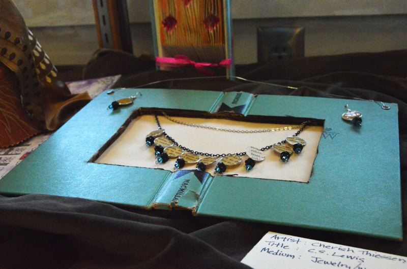 SPOTLIGHT PHOTO: NICOLE THILL - This mixed-media jewelry piece was submitted by Cherish Thiessen. Thiessen submitted several art pieces for the showing.
