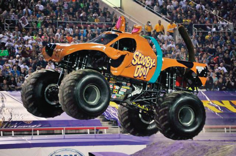 Bailey Shea drives the iconic Scooby-Doo truck. Im an adrenaline junkie, she says. She and Kayla Blood stop in Portland with the Monster Jam series, Feb. 13-14.