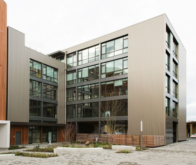 PAMPLIN MEDIA GROUP: JOHN M. VINCENT - The Radiator is part of the three-building One North development at North Vancouver and Fremont. Though its wood structure isnt evident on the outside, interiors feature high ceilings, and warm, natural colors created by laminated wood beams.