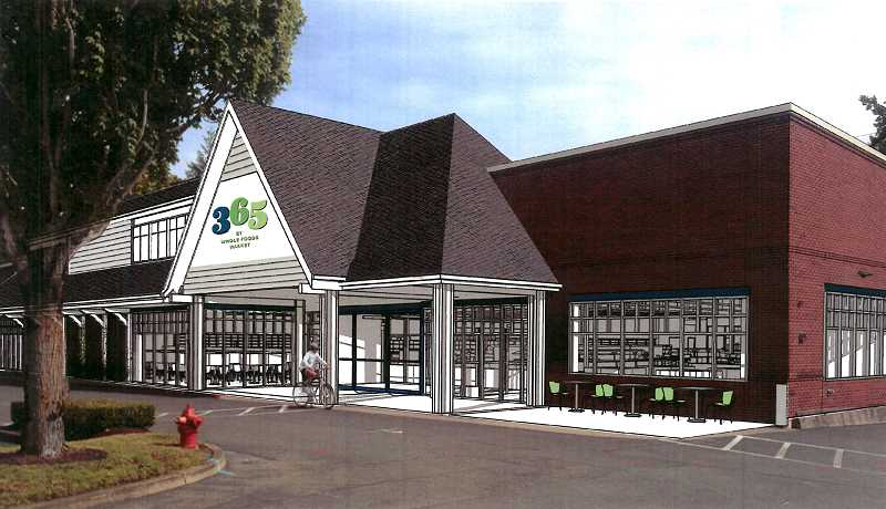 SUBMITTED PHOTO - An artist's rendering of the new 365 by Whole Food Market on State Street shows the new dormer proposed for the store's entrance and full-length windows planned for the front wall.