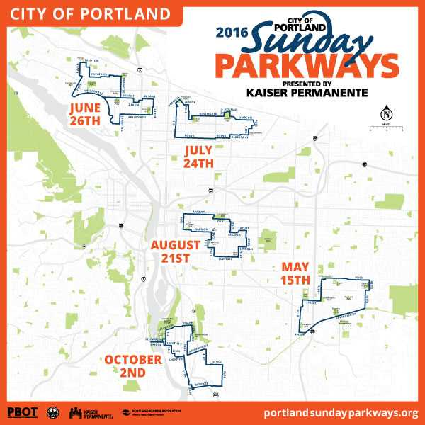 COUTESY: PORTLAND BUREAU OF TRANSPORTATION  - PBOT has announced five Sunday Parkways this year, including a new one between Sellwood and Milwaukie over the new Sellwood Bridge.