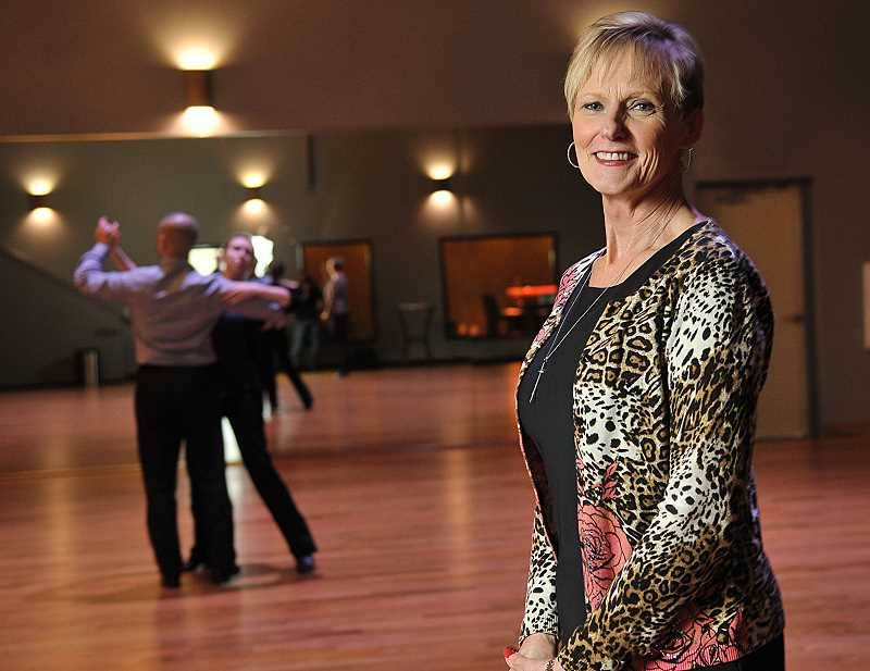 STAFF PHOTOS: VERN UYETAKE  - Jan Lampee and partner Alex Aillon have opened a Fred Astaire Dance Studio in Lake Oswego.