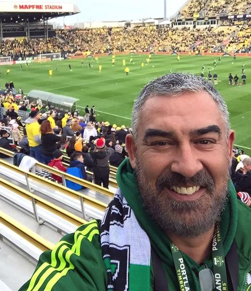 SUBMITTED PHOTO - Pantelis 'Pondo' Kosmas, owner of the Mad Greek Deli in the Rock Creek area of Washington County, was a dedicated Portland Timbers fan. He died over the weekend of a brain hemorrhage at age 49.