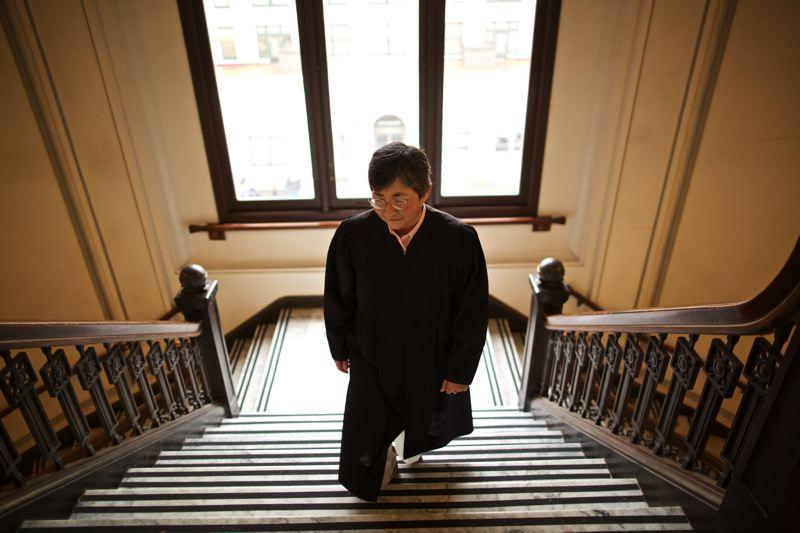 PORTLAND TRIBUNE: JAIME VALDEZ - Lynn Nakamoto in the Oregon Supreme Court Building, where she has served as Associate Justice since Jan. 1.