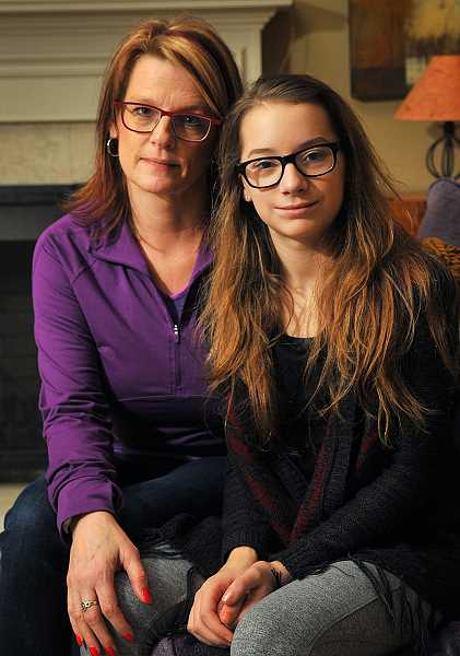 REVIEW PHOTO: VERN UYETAKE - Tammy Peterson said she has a close relationship with her daughter, Grace, and still couldn't tell something was wrong. But Grace is recovering, and the bullying has stopped.
