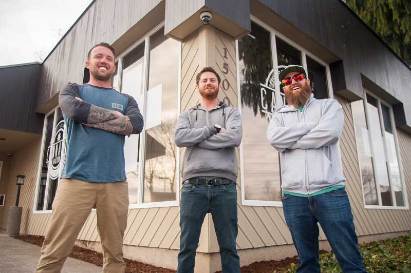 OUTLOOK PHOTO: JOSH KULLA - Ryan Walker, Josh Olague and Tyler Walker own and operate Cannabis Nation medical marijuana dispensaries in Beaverton and Seaside. They plan to soon open a new dispensary at the corner of Southeast Division and Burnside in Gresham.