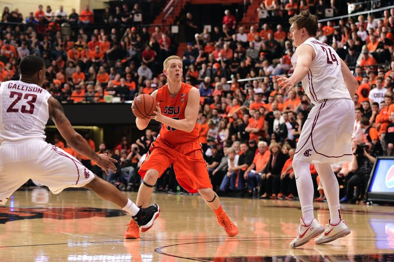 COURTESY: OREGON STATE UNIVERSITY - The play of Olaf Schaftenaar helped Oregon State defeat Washington State by 20 points on Sunday at Gill Coliseum.