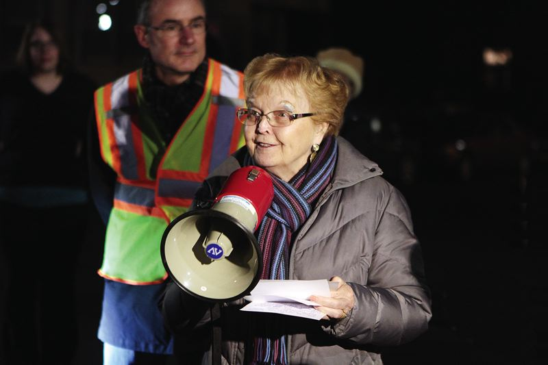 TRIBUNE PHOTO: DAVID F. ASHTON - Former Oregon Gov. Barbara Roberts called the old Sellwood Bridge our loyal and dependable friend.