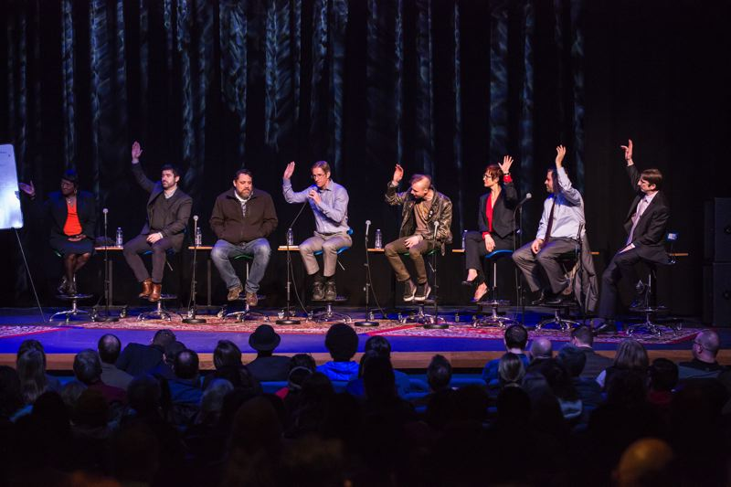PORTLAND TRIBUNE: JONATHAN HOUSE - Portland mayoral candidates raise their hands in response to a question about whether they support creating a local version of the DEQ.