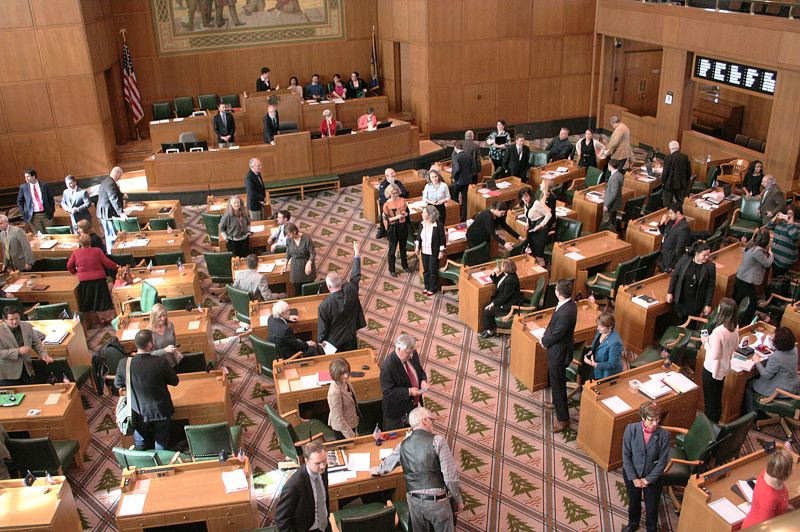 PAMPLIN MEDIA GROUP PHOTO: MATEUSZ PERKOWSKI - Oregon's House adjourned Thursday afternoon, March 3, after more than 30 days in a sometimes contentious legislative session.