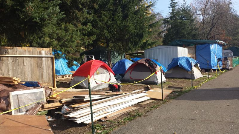 PORTLAND TRIBUNE FILE PHOTO - Although there is no official count, the number of homeless camps appears to be increasing.