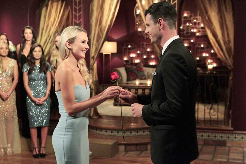 Image result for ben higgins rose ceremony lauren bushnell]