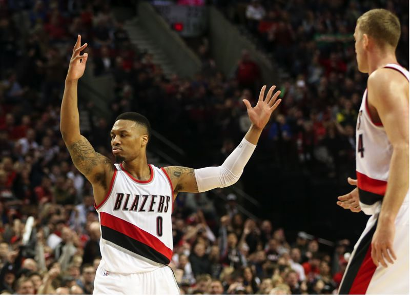 TRIBUNE PHOTO: DAVID BLAIR - Damian Lillard and the Trail Blazers provide plenty of high-profile content for Comcast SportsNet Northwest, which is negotiating with the NBA team on a new contract.