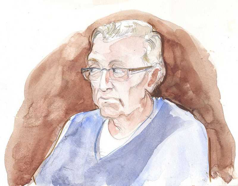 This is a courtroom drawing Abigail did of Clive Bundy.
