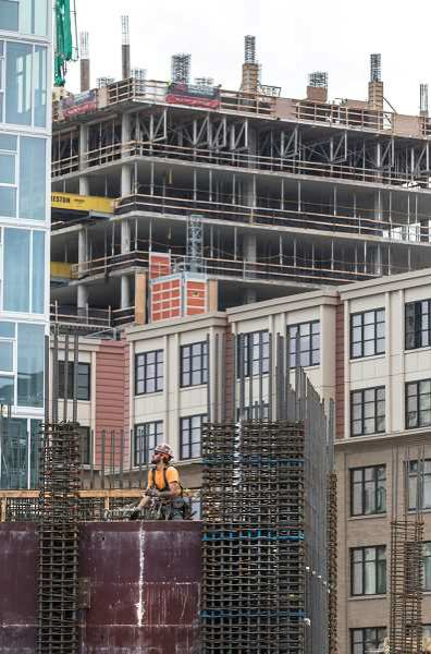PORTLAND TRIBUNE FILE PHOTO - Apartment construction is increasing to keep pace with the growing population.