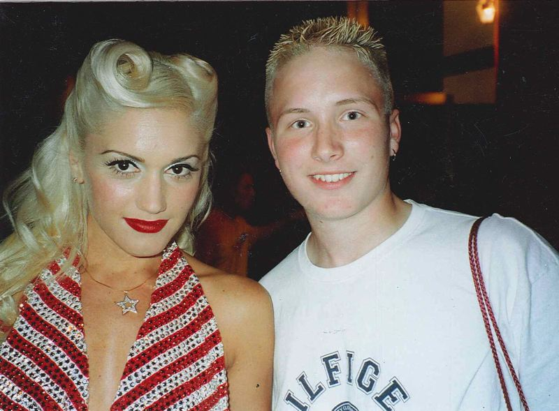PHOTO COURTESY OF JOSH LASURE - Lasure with Gwen Stefani at the MTV Video Music Awards in 2001.