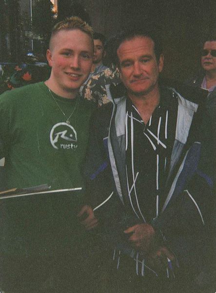 Lasure waited outside a hotel in downtown Portland to get a photo with Robin Williams.