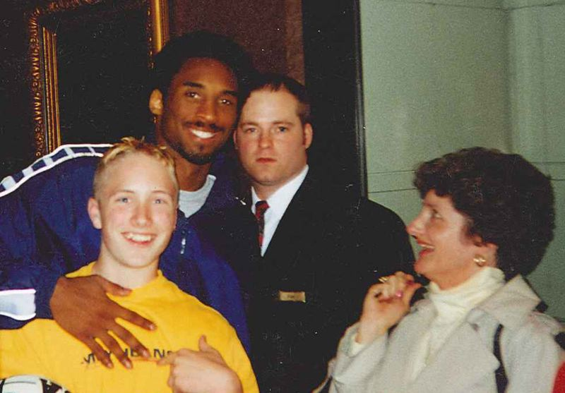 As a teen, Lasure hopped a barricade at a hotel in Portland to get a photo with NBA allstar Kobe Bryant.