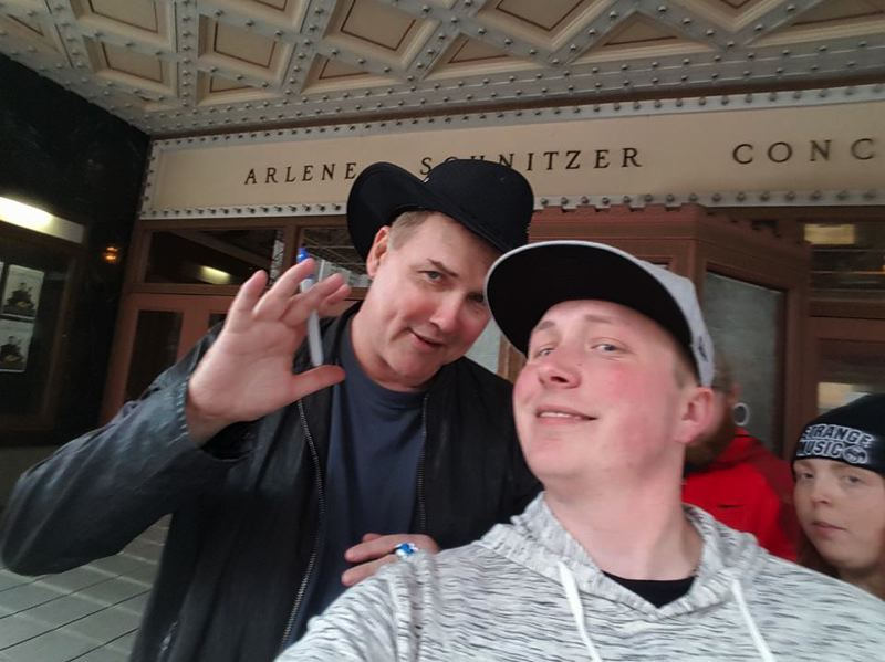 Norm Macdonald and other comedians signed a Saturday Night Live book for superfan Josh Lasure during a recent appearance at the Arlene Schnitzer Concert Hall in Portland.