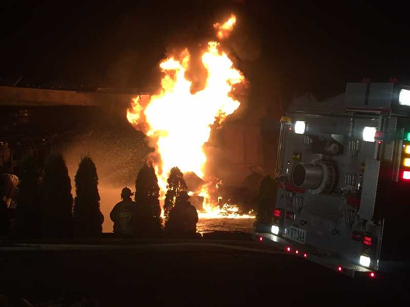 TVF&R - Tualatin Valley Fire & Rescue crews extinguished a fire in rural Stafford early Wednesday morning at a boat manufacturer on Southwest Mountain Road.