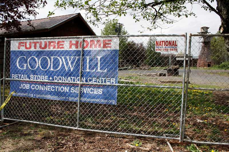 POST PHOTO: ELIZABETH KELLAR - Sandys Goodwill is moving from a rented space on Meinig Avenue to a new, permanent facility on Highway 26 that is the site of the old Olaf M. Oja Lumber Co.
