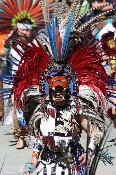 HILLSBORO TRIBUNE FILE PHOTO - Colorful costumed dancers from Huitzilin Cultural Group will lead the kick-off parade down Main Street Sunday at 12:15 p.m.