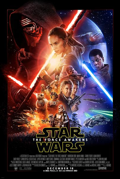 LUCASFILM OFFICIAL POSTER - 'Star Wars: The Force Awakens' broke numerous box-office records after its Dec. 18, 2015, release. The film is Episode VII of the 'Star Wars' saga.