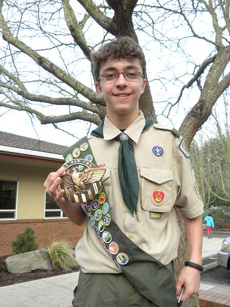SPOKESMAN FILE PHOTO - Dawson Durigs ambitious Eagle Scout project honored veterans interred at Pleasant View Cemetery. He was recently named national winner of the Daughters of the American Revolutions Outstanding Service for Veterans award.