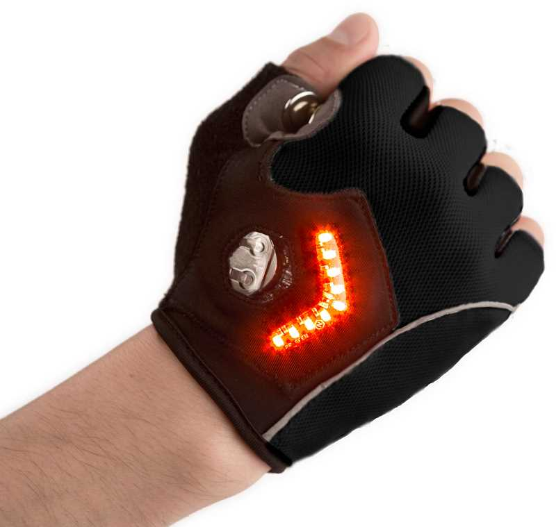 SUBMITTED PHOTO: ZACH VORHIES - Vorhies first invention, the Turn Signal Glove, is meant to make it safer for cyclists riding at night.