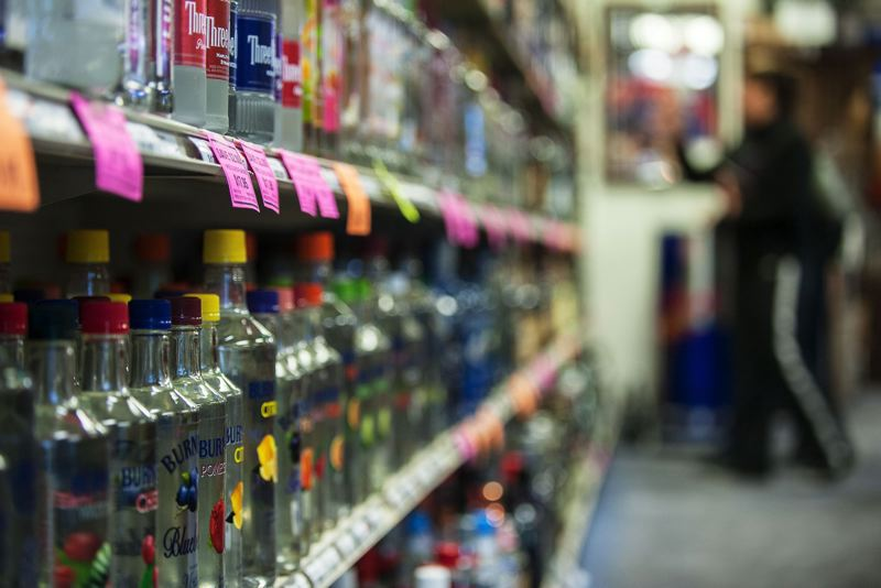 TRIBUNE FILE PHOTO - An initiative to bring liquor sales to grocery stores has been dropped as the group behind it turns its attention to a corporate tax measure on the November ballot.