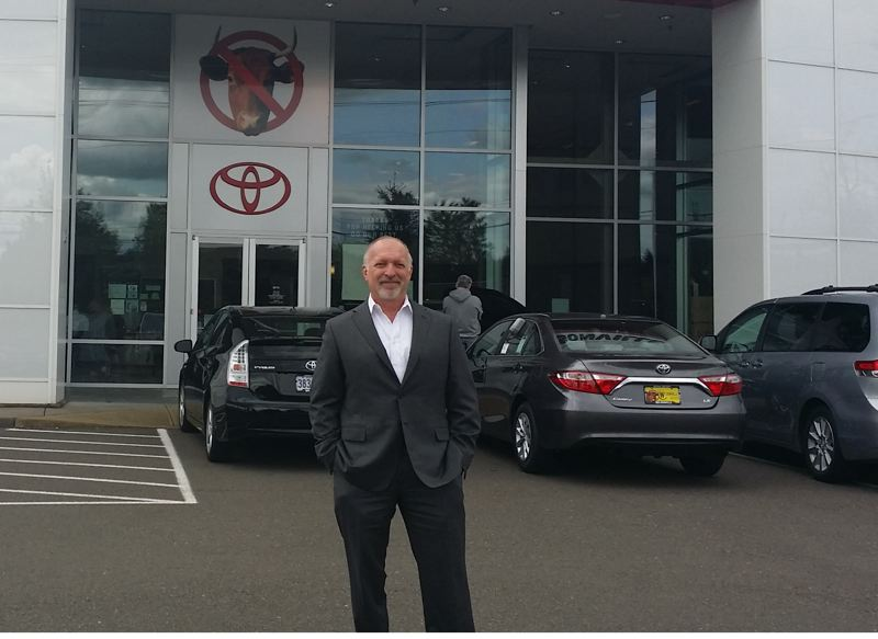 Courtesy Wilsonville Toyota Owner Dave Jachter Outside His Showroom After Winning The President¹s