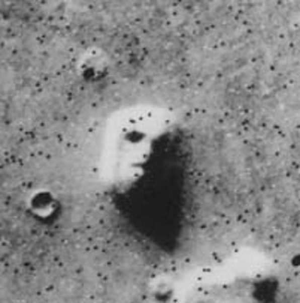 NASA - This famous photo of what looks like a face on Mars is really just a hill, according to Pat Hanrahan, Mt. Hood Community College planetarium director.