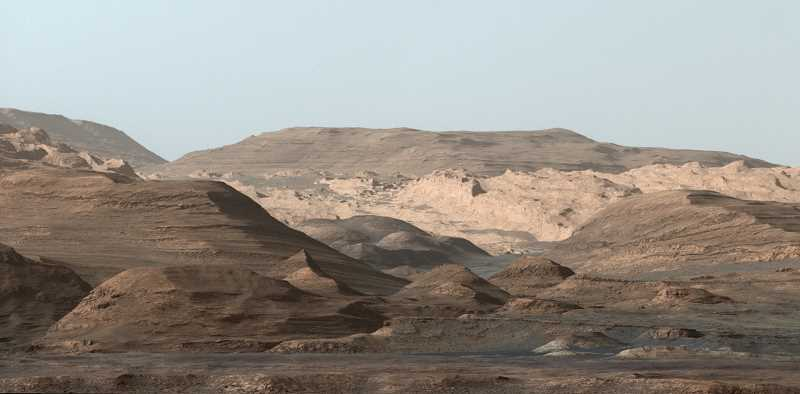 NASA - NASA's Curiosity Rover took this image of Mount Sharp which is the central mountain within Mars Gale Crater. This image and others will be discussed at Mt. Hood Community Colleges planetarium this month.