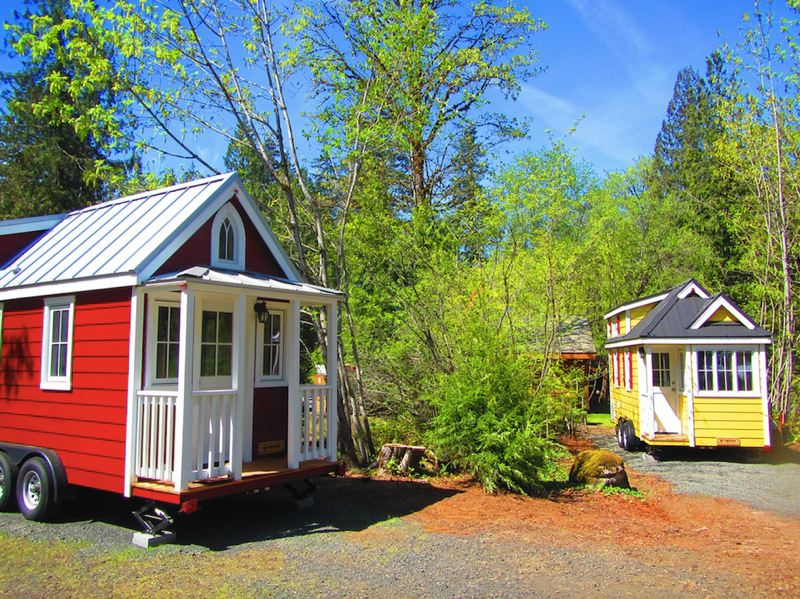 SUBMITTED PHOTO - Take a look at Scarlett's farmhouse charm, find out more about Mt. Hood's Tiny House Village and tour the other four tiny houses, during the open house from 5 to 8 p.m. on May 20. All five tiny houses will be available for rent on Memorial Day weekend.