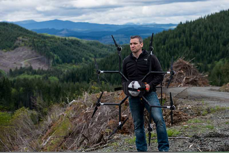 COURTESY DRONESEED - Grant Canary and his partners at DroneSeed are outfitting drones to replant, treat and survey huge areas following timber harvests, wildfires and environmental degradation.