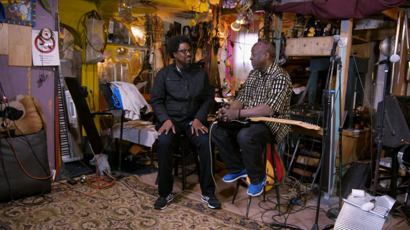 COURTESY CNN - W. Kamau Bell and with Ural Thomas, a longtime local musician, discuss gentrification in Portland. Thomas misses his old North Portland neighborhood but still likes living in town.