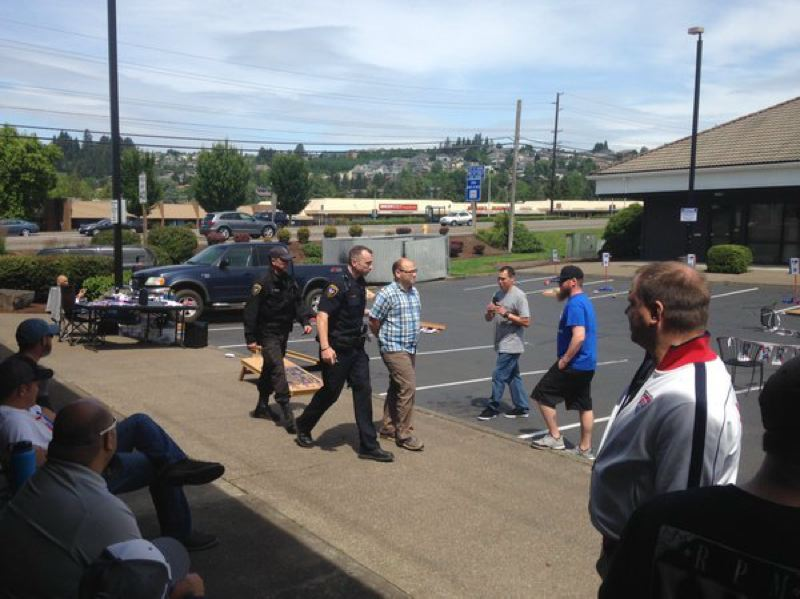 KOIN 6 NEWS - Matthew Dolphin was arrested after driving a truck through a Tigard corn hole tournament on Saturday.