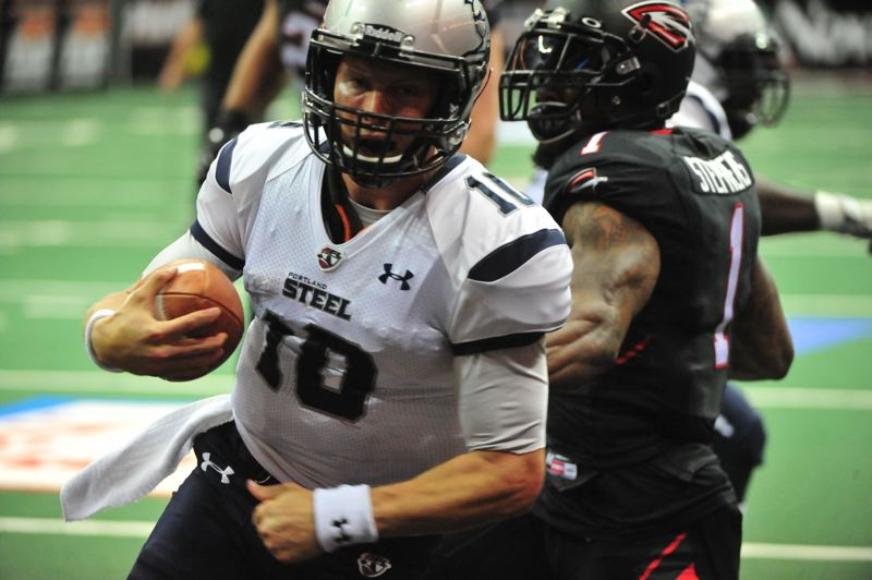 COURTESY: ARENA FOOTBALL LEAGUE - Quarterback Shane Austin and the Portland Steel will play at home Friday against the Tampa Bay Storm, as the Arena Football League heads into the second half of its season.