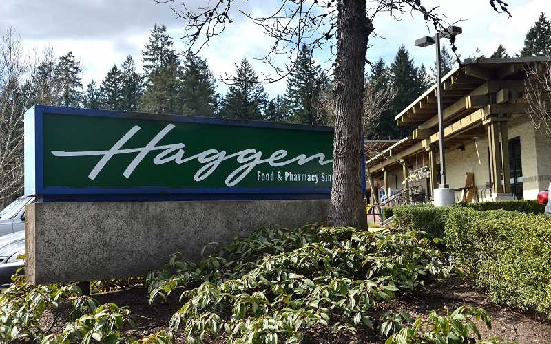 REVIEW PHOTO: VERN UYETAKE - The Haggen Food & Pharmacy store on Boones Ferry Road in Lake Oswego was scheduled to close Wednesday for a week-long conversion and reopen as an Albertsons on June 9.