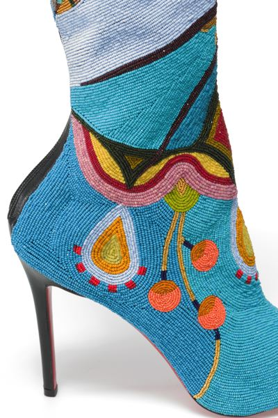 COURTESY: WALTER SILVER - It's Jamie Okuma's Christian Louboutin beaded boots.