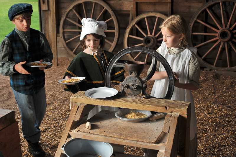 CONTRIBUTED PHOTO: JENNIFER GOLDMAN - Participants of all ages enjoy events at Philip Foster Farm. The Jacknife-Zion-Horseheaven Historical Society, the group that operates the farm, strives to make history come alive for visitors to the historic site.