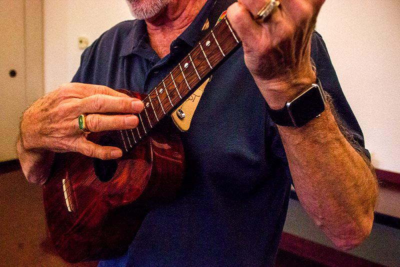 PAMPLIN MEDIA PHOTO: ANDREW BANTLY - Portuguese immigrants introduced the small guitar-like instrument known as the ukulele to Hawaiian musicians in the 19th century. Todays ukuleles are made from solid hardwoods and remain shaped like a miniature acoustic guitar.
