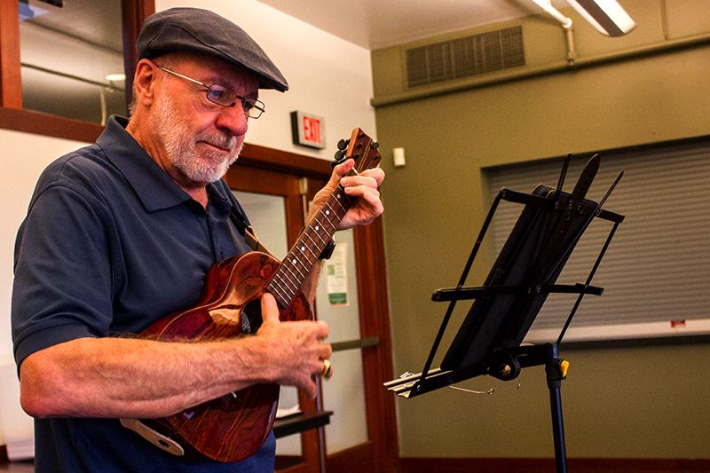 PAMPLIN MEDIA PHOTO: ANDREW BANTLY - McCallister once played the accordion and guitar. After heart surgery six years ago, he considered picking up the accordion again, but chose the ukulele instead, after his wife said she didnt care for the sound of the accordion.