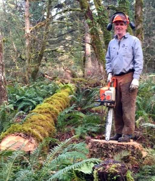 COURTESY PHOTO: OREGON FIELD GUIDE - Peter Hayes owns Hyla Woods in the Oregon Coast Range near Hagg Lake and tries to manage it in a sustainable fashion.