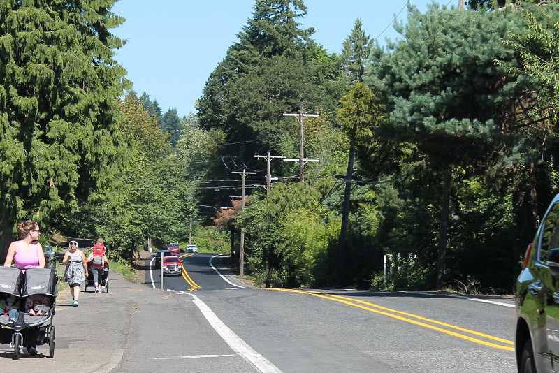 TIDINGS PHOTO: LESLIE PUGMIRE HOLE - Highway 43 is a continued concern for residents, and the TAB has been working on a new concept plan that would significantly improve conditions for drivers, bikers and walkers alike.